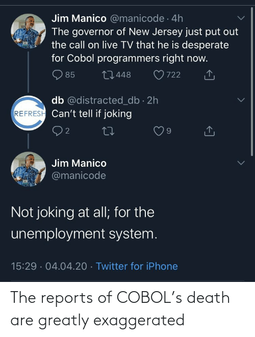 The: The reports of COBOL's death are greatly exaggerated