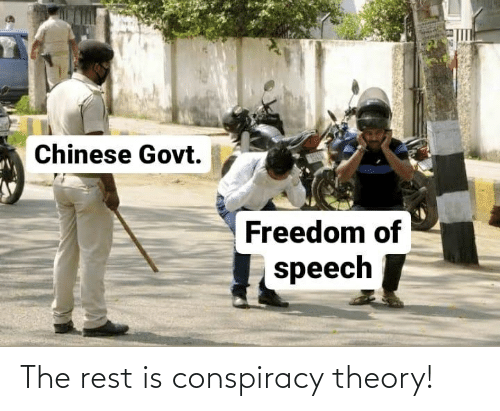 Conspiracy Theory: The rest is conspiracy theory!
