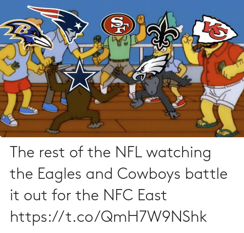 Philadelphia Eagles: The rest of the NFL watching the Eagles and Cowboys battle it out for the NFC East https://t.co/QmH7W9NShk