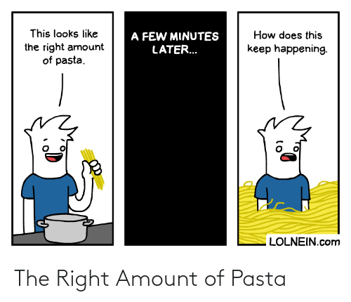 Amount: The Right Amount of Pasta