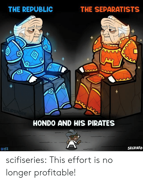 republic: THE SEPARATISTS  THE REPUBLIC  SOLIDSNARK  HONDO AND HIS PIRATES  SRGRAFO  scifiseries:  This effort is no longer profitable!