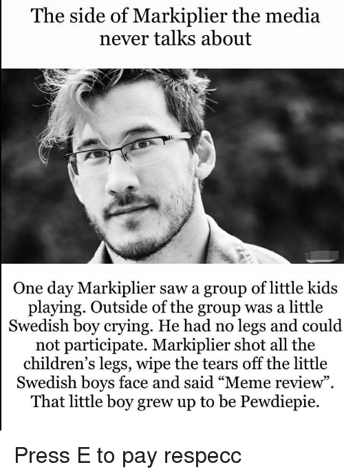 The Side of Markiplier the Media Never Talks About One Day