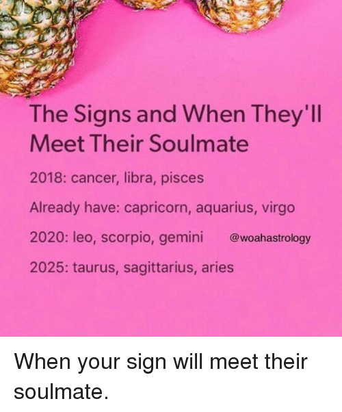 The Signs and When They'll Meet Their Soulmate 2018 Cancer