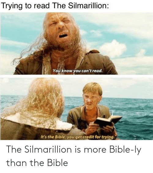 Bible: The Silmarillion is more Bible-ly than the Bible