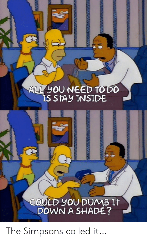 The Simpsons: The Simpsons called it…