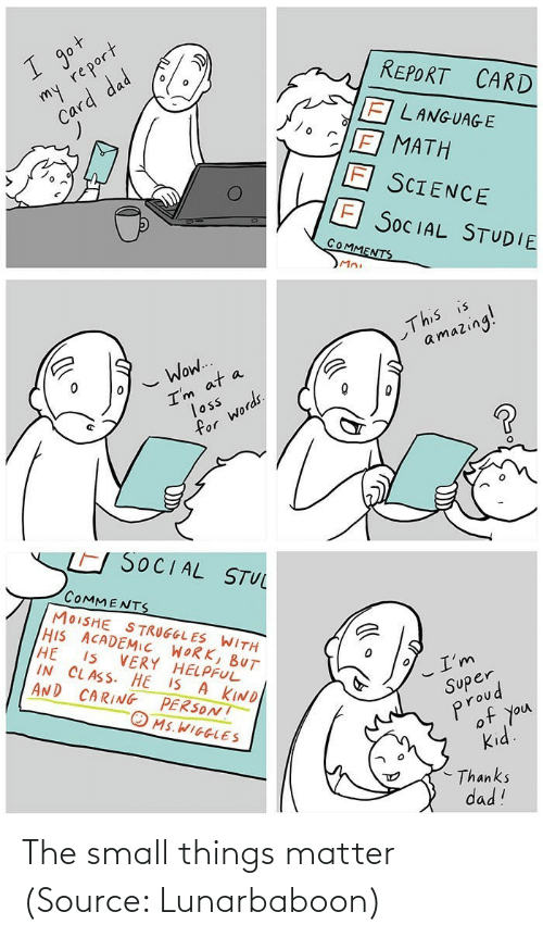 matter: The small things matter (Source: Lunarbaboon)