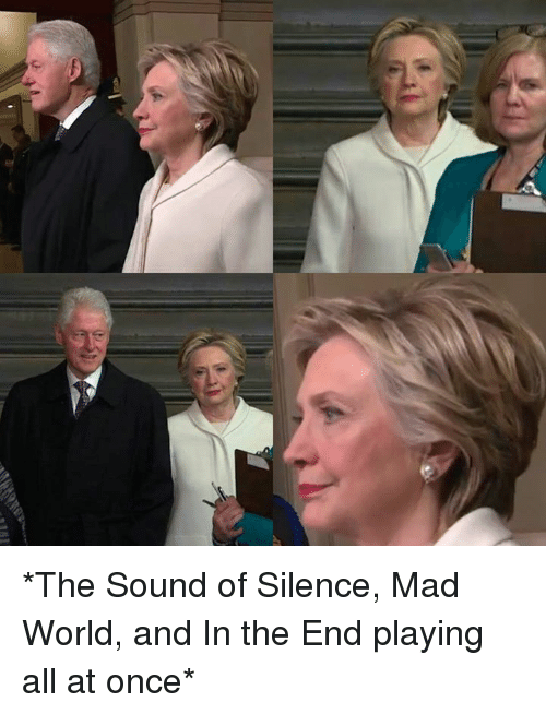 The Sound of Silence: *The Sound of Silence, Mad World, and In the End playing all at once*