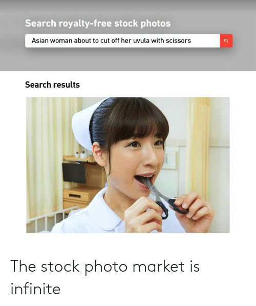 market: The stock photo market is infinite
