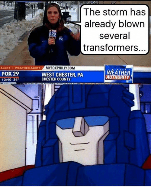 Foxe: The storm has  already blown  several  transformers.  MYFOXPHILLY.COM  ALERTWEATHER ALERTM  FOX 29  2:40 34  WEST CHESTER, PA  CHESTER COUNTY  WEATHER  AUTHORITY