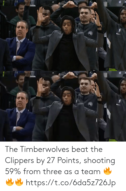 Points: The Timberwolves beat the Clippers by 27 Points, shooting 59% from three as a team  🔥🔥🔥 https://t.co/6da5z726Jp