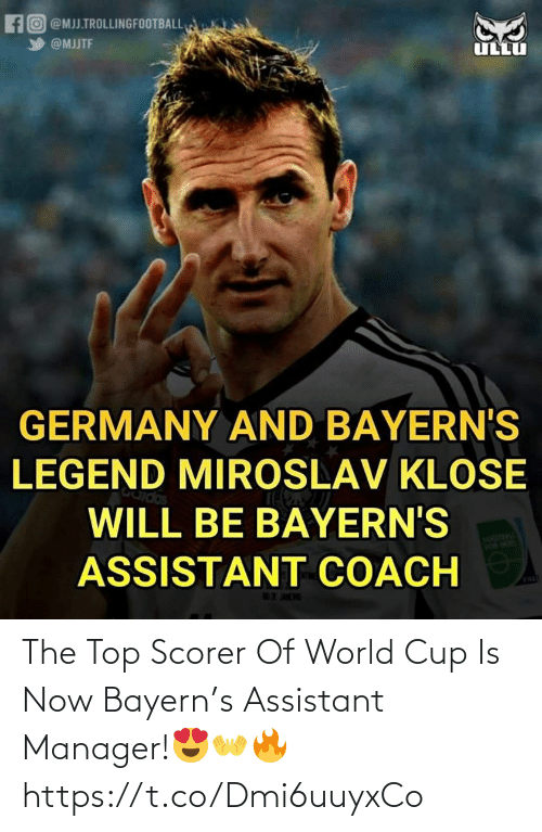 World Cup: The Top Scorer Of World Cup Is Now Bayern's Assistant Manager!😍👐🔥 https://t.co/Dmi6uuyxCo
