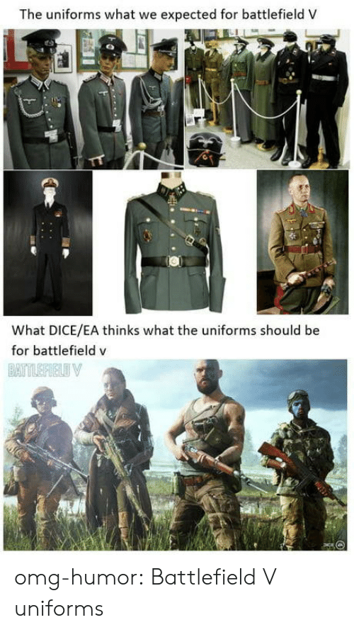 Battlefield: The uniforms what we expected for battlefield V  What DICE/EA thinks what the uniforms should be  for battlefield v omg-humor:  Battlefield V uniforms