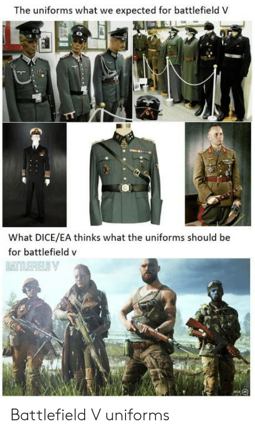 Battlefield: The uniforms what we expected for battlefield V  What DICE/EA thinks what the uniforms should be  for battlefield v Battlefield V uniforms