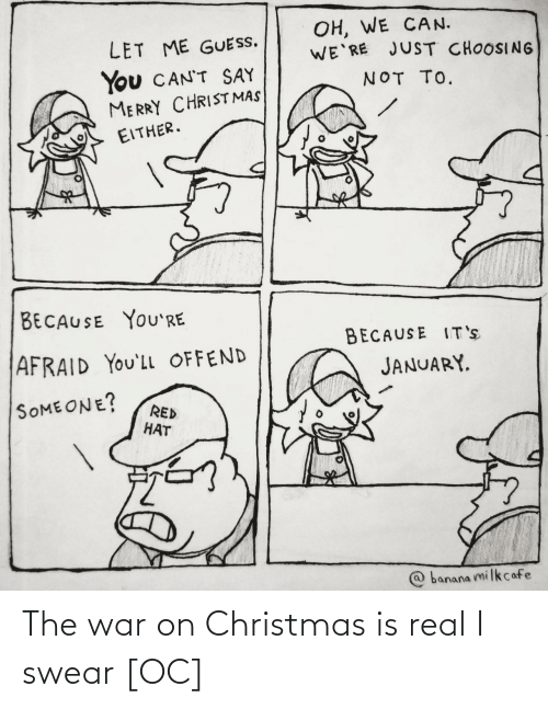 Christmas: The war on Christmas is real I swear [OC]