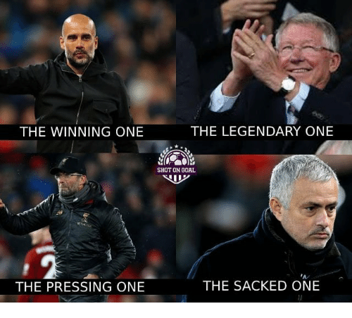 Memes, Goal, and 🤖: THE WINNING ONE  THE LEGENDARY ONE  SHOT ON GOAL  A/  THE PRESSING ONE  THE SACKED ONE