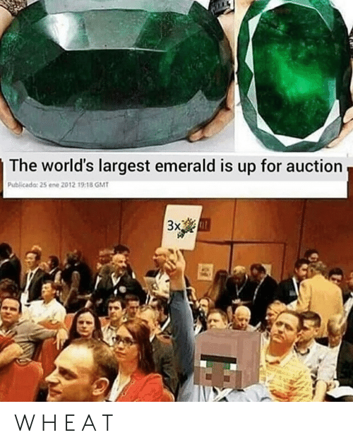 Gmt, Emerald, and For: The world's largest emerald is up for auction  Publicado: 25 ene 2012 19:18 GMT  3xem W H E A T