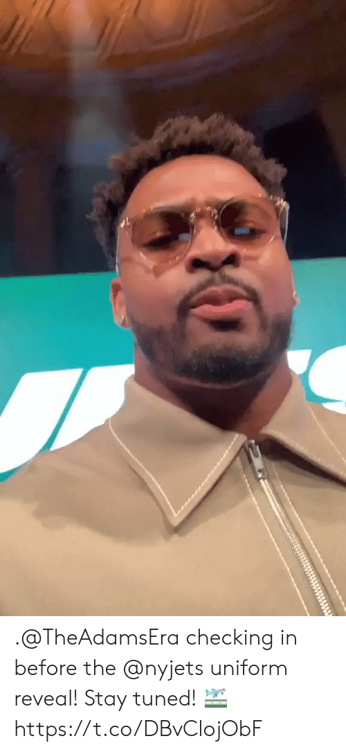Memes, 🤖, and Stay: .@TheAdamsEra checking in before the @nyjets uniform reveal!  Stay tuned! 🛫 https://t.co/DBvClojObF