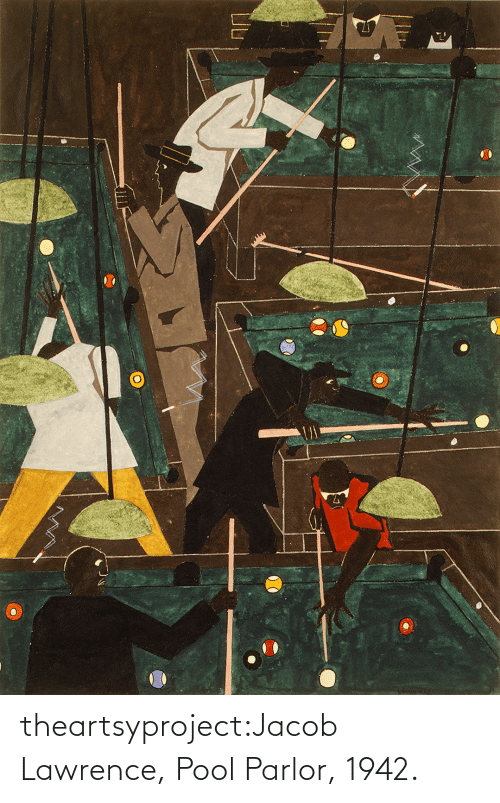 Lawrence: theartsyproject:Jacob Lawrence, Pool Parlor, 1942.