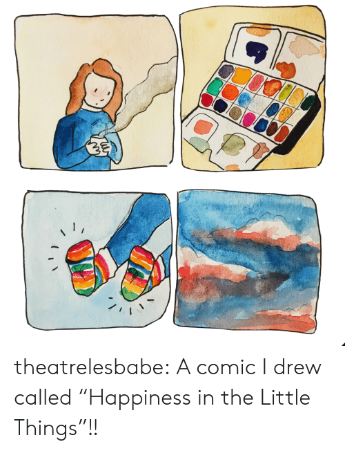"Target, Tumblr, and Blog: theatrelesbabe: A comic I drew called ""Happiness in the Little Things""!!"