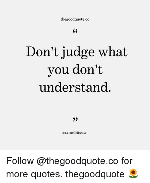 Thegoodquoteco Don\'t Judge What Vou Don\'t Understand 9 ...