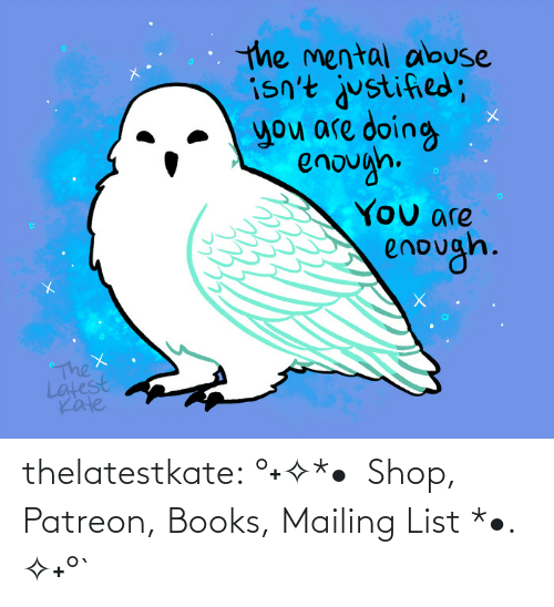 the thing: thelatestkate:    °˖✧*•  Shop, Patreon, Books, Mailing List *•. ✧˖°`