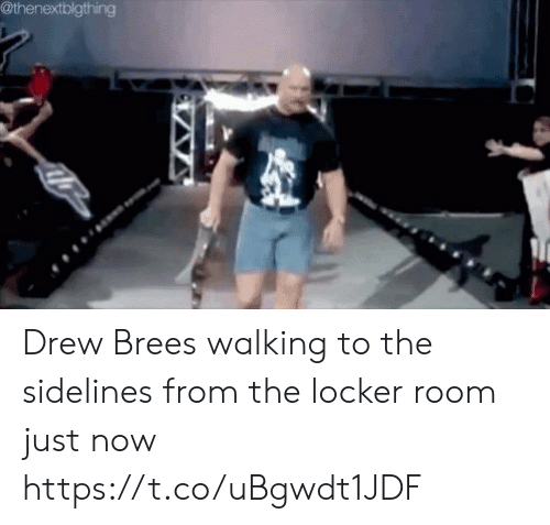 Mike Tomlin, Drew Brees, and Now: @thenextblgthing Drew Brees walking to the sidelines from the locker room just now https://t.co/uBgwdt1JDF