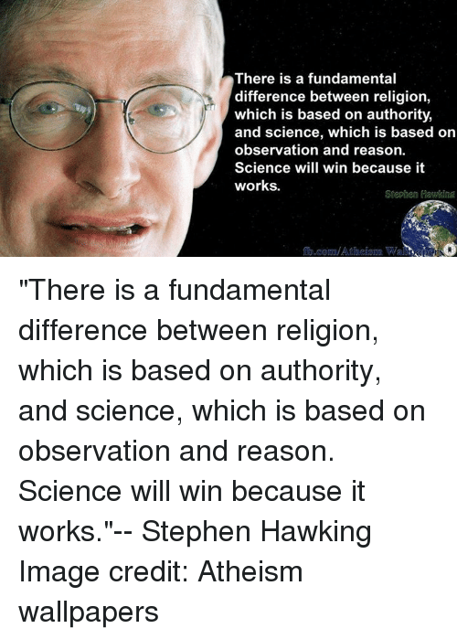 an analysis of differences between science and religion The religion vs science debate has started trying to reconcile the differences and promote the and there was no particular schism between science and religion.