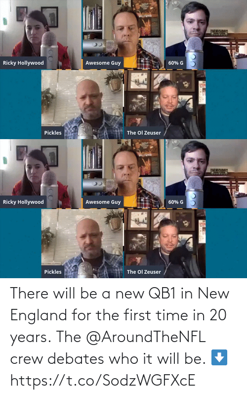 new england: There will be a new QB1 in New England for the first time in 20 years.  The @AroundTheNFL crew debates who it will be. ⬇️ https://t.co/SodzWGFXcE
