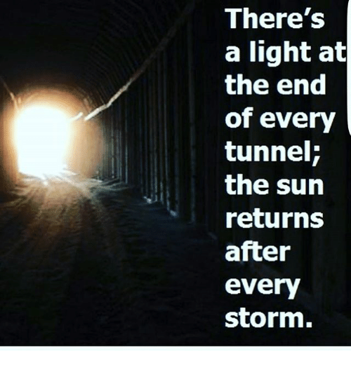 Image result for light at the end of the tunnel meme