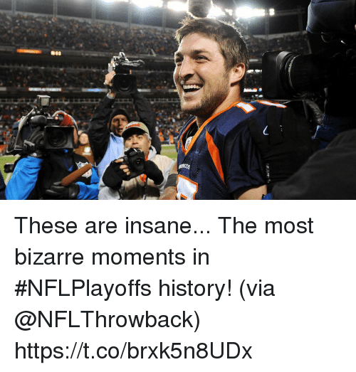 Memes, History, and Bizarre: These are insane...  The most bizarre moments in #NFLPlayoffs history! (via @NFLThrowback) https://t.co/brxk5n8UDx