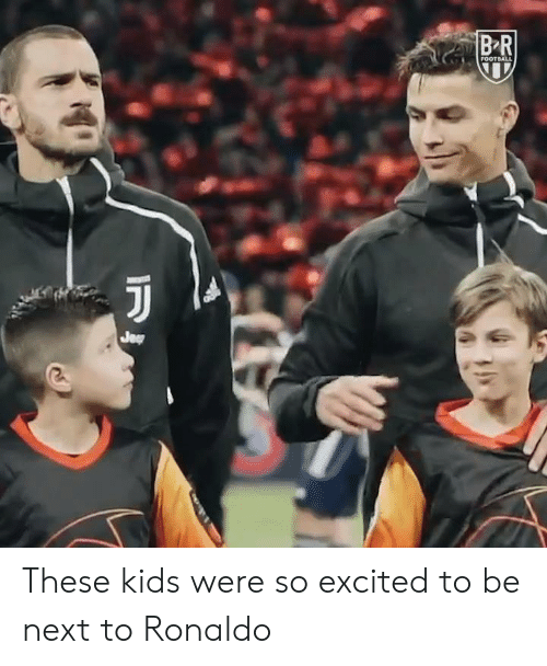 Kids, Ronaldo, and Next: These kids were so excited to be next to Ronaldo
