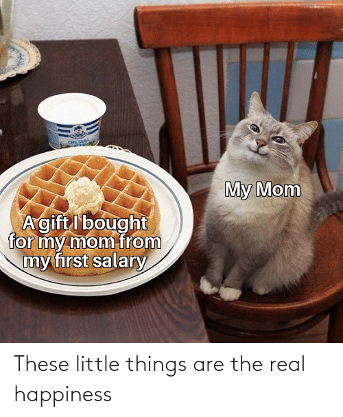 Little: These little things are the real happiness
