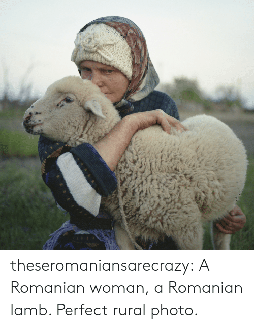 Tumblr, Blog, and Http: theseromaniansarecrazy: A Romanian woman, a Romanian lamb. Perfect rural photo.