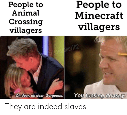 slaves: They are indeed slaves