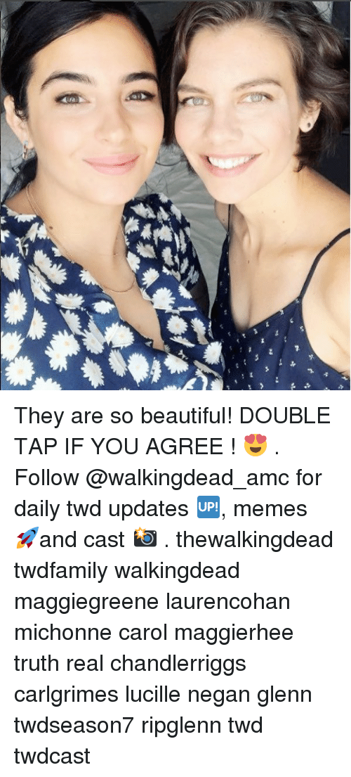 negan: They are so beautiful! DOUBLE TAP IF YOU AGREE ! 😍 . Follow @walkingdead_amc for daily twd updates 🆙, memes 🚀and cast 📸 . thewalkingdead twdfamily walkingdead maggiegreene laurencohan michonne carol maggierhee truth real chandlerriggs carlgrimes lucille negan glenn twdseason7 ripglenn twd twdcast