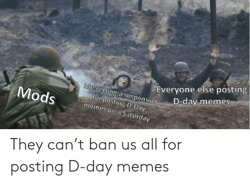 D: They can't ban us all for posting D-day memes