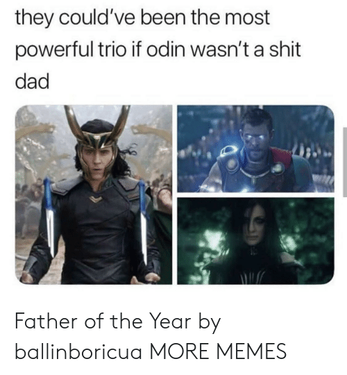 Dad, Dank, and Memes: they could've been the most  powerful trio if odin wasn't a shit  dad Father of the Year by ballinboricua MORE MEMES