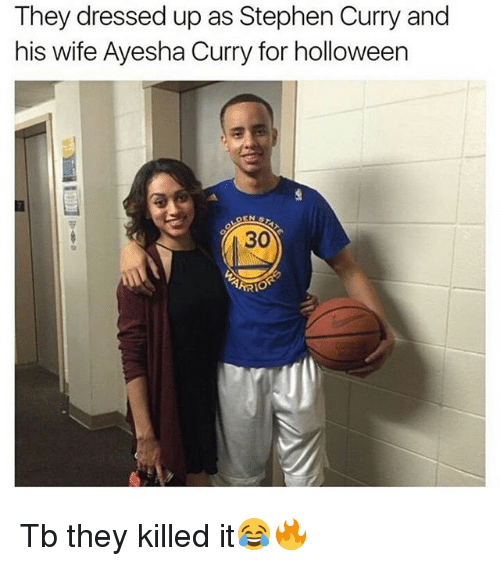 Ayesha Curry: They dressed up as Stephen Curry and  his wife Ayesha Curry for holloween  30  TARIO Tb they killed it😂🔥