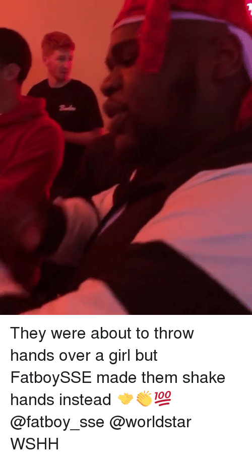 sse: They were about to throw hands over a girl but FatboySSE made them shake hands instead 🤝👏💯 @fatboy_sse @worldstar WSHH