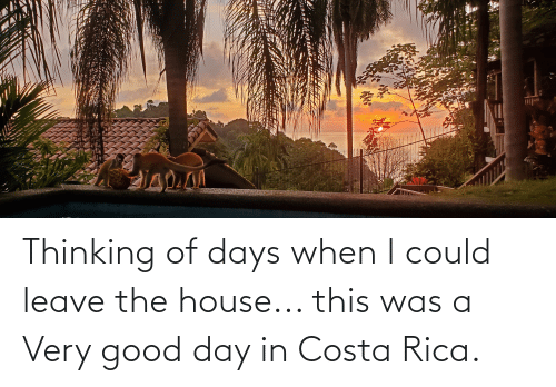 costa: Thinking of days when I could leave the house... this was a Very good day in Costa Rica.