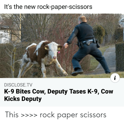 rock: This >>>> rock paper scissors