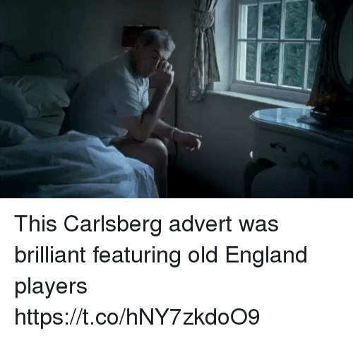 England, Memes, and Brilliant: This Carlsberg advert was brilliant featuring old England players https://t.co/hNY7zkdoO9