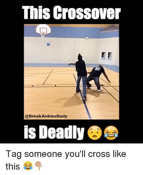 breaking ankles: This crossover  @Break Ankles Daily  is Deadly Tag someone you'll cross like this 😂👇🏽