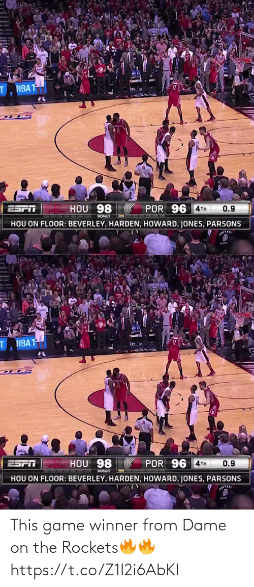 rockets: This game winner from Dame on the Rockets🔥🔥 https://t.co/Z1I2i6AbKl