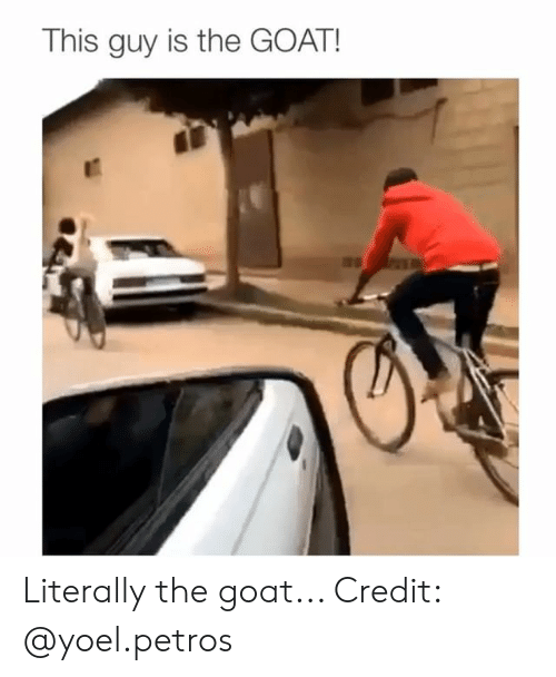Memes, Goat, and 🤖: This guy is the GOAT! Literally the goat... Credit: @yoel.petros