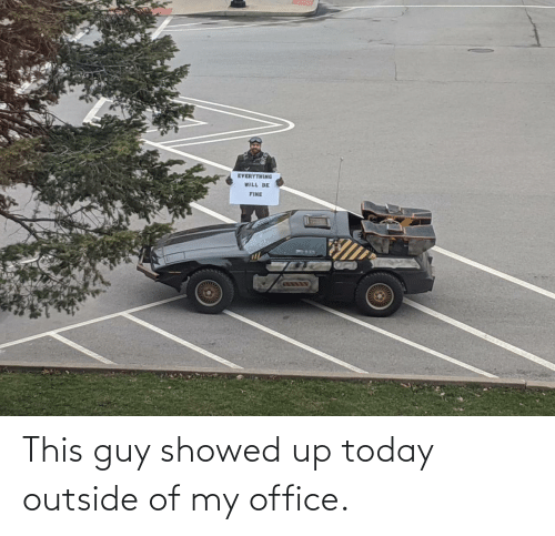 Office: This guy showed up today outside of my office.