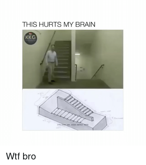 Wtf, Brain, and Hurts: THIS HURTS MY BRAIN  KKG  KE Wtf bro