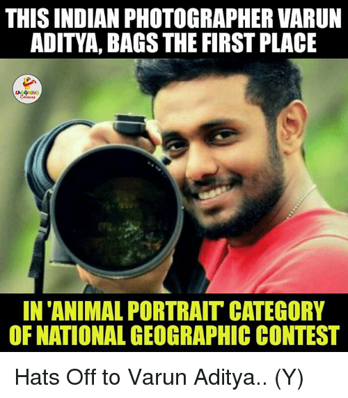 animism: THIS INDIAN PHOTOGRAPHER VARUN  ADITYA, BAGS THE FIRST PLACE  LA  IN ANIMAL PORTRAIT CATEGORY  OF NATIONAL GEOGRAPHIC CONTEST Hats Off to Varun Aditya.. (Y)