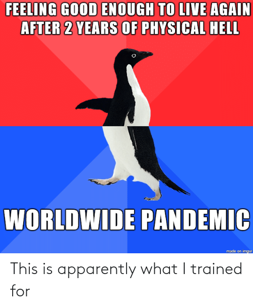 apparently: This is apparently what I trained for