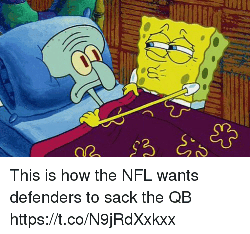 Football, Nfl, and Sports: This is how the NFL wants defenders to sack the QB https://t.co/N9jRdXxkxx